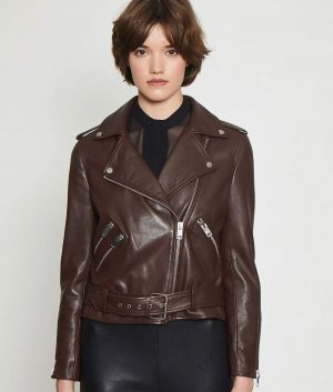 Joellen Classic fit Chocolate Brown Womens Leather Jacket