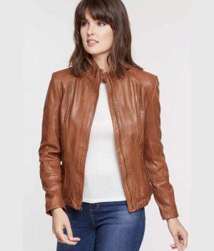 Jonathan Womens Slimfit Style Brown Jacket
