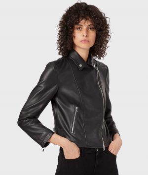 Juanita Womens Lambskin Leather Jacket