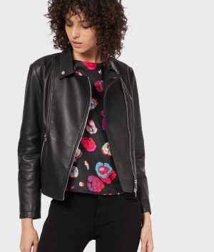 Juanita Womens Lambskin Leather Biker Jacket