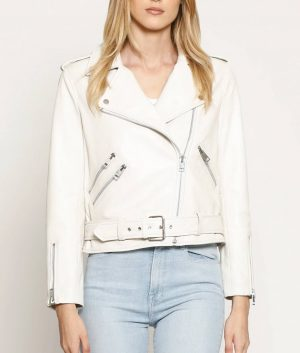 Katherine Womens Classic fit White Jacket