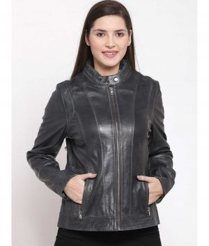 Kristina Womens Leather Jacket