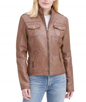 Linda Womens Moto Jacket