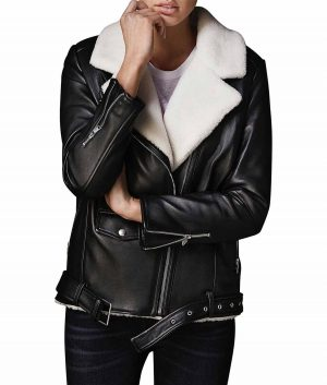 Louise Womens Black Leather Jacket