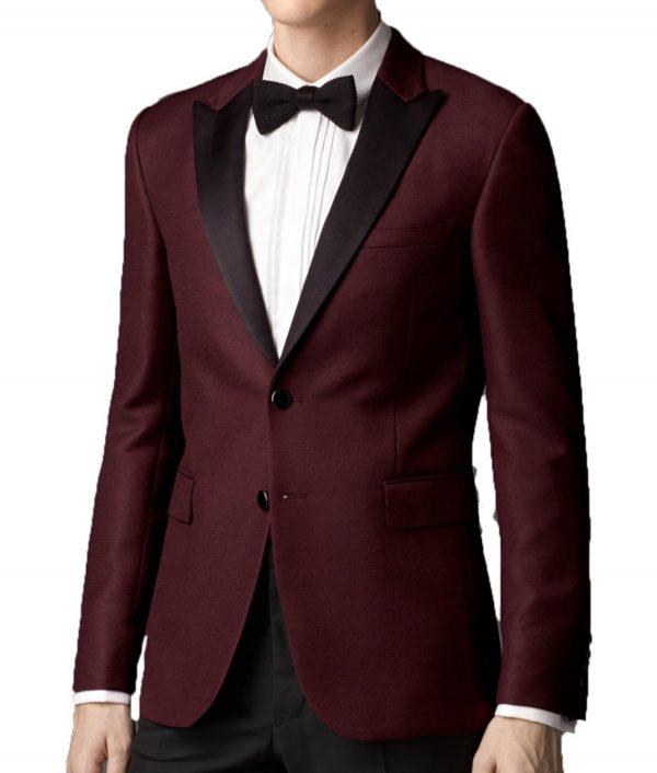 Luis Men Maroon Tuxedo Jacket