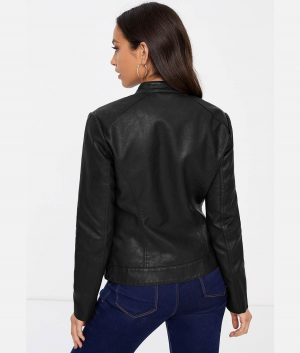 Lamskin Leather Biker Jacket