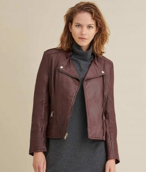Mary Womens Leather Jacket