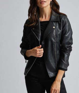 Nereida Womens Black Biker Jacket