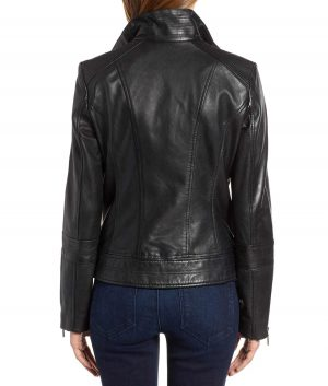 Sandra Womens Moto Leather Jacket