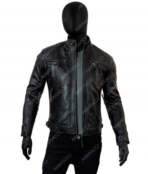 Thomas Mens Black Cafe Racer Jacket