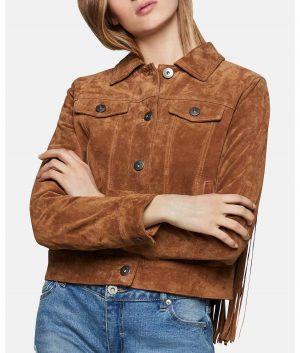 Aaron Womens Fringe Jacket