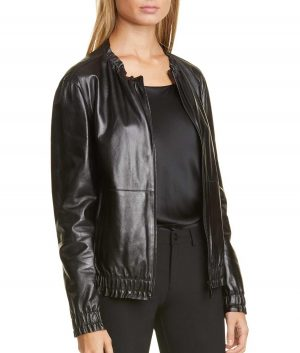 Abby Womens Black Leather Jacket