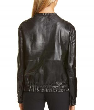 Abby Womens Casual Black Lambskin Leather Jacket