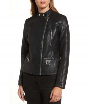 Adriana Womens Moto Jacket