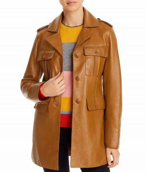 Barbara Brown Womens Leather Jacket