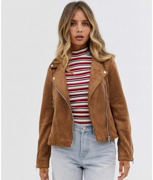 Betty Womens Brown Leather Jacket