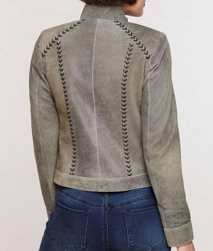 Bonnie Womens Boulder Distressed Lambskin Leather Jacket