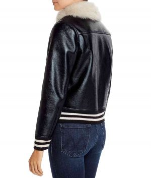 Cindy Womens Faux Fur Lined Bomber Jacket