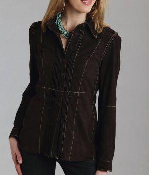 Deann Womens Brown Leather Jacket