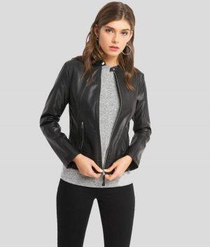 Donna Womens Lambskin Leather Jacket