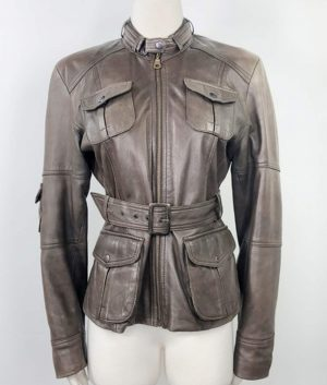 Dorothy Womens Brown Leather Jacket