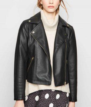 Emily Womens Leather Biker Jacket
