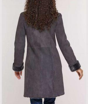 Erika Womens Spanish Shearling Sheepskin Coat