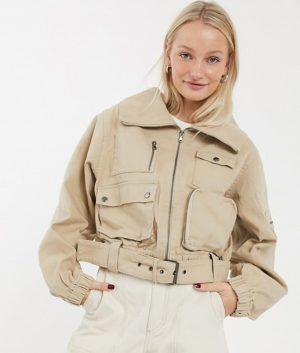 Georgiana Womens Leather Jacket