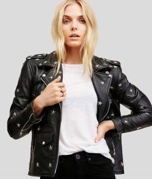 Gloria Womens Black Studded Jacket