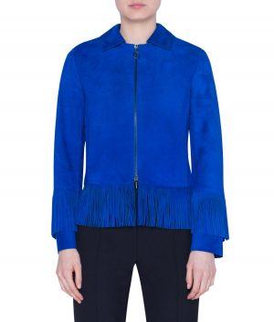 Gloria Womens Fringe Jacket