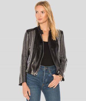 Jennifer Womens Leather Jacket