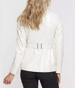 Jessica Womens Spanish Lambskin Leather Coat