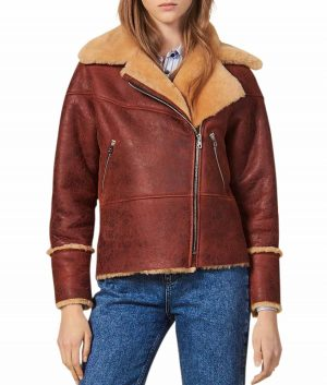 Josephine Womens Brown Shearling Jacket