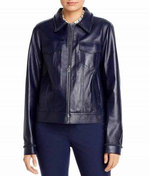 Justina Womens Leather Jacket