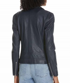 Katherine Womens Classic Biker Jacket