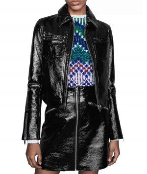Laura Womens Leather Biker Jacket
