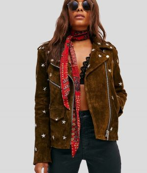 Lavern Womens Brown Leather Jacket