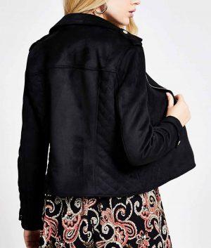 Leona Womens Black Biker Jacket