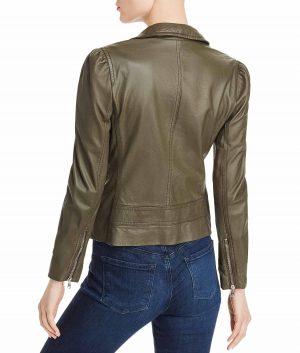 Letitia Womens Slimfit Leather Biker Jacket