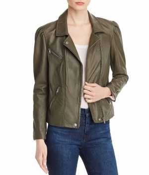 Letitia Womens Slimfit Leather Jacket