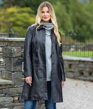 Linda Womens Trench Coat