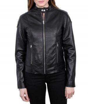 Maria Black Leather Womens Jacket