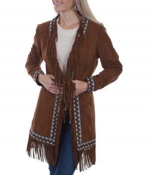 Masako Womens Wastern Leather Coat