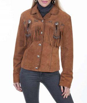 Monica Womens Suede Jacket