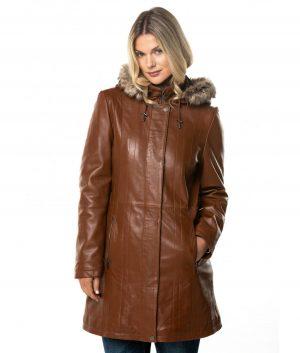 Myrtle Womens Leather Coat