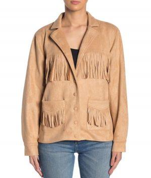 Rhonda Womens Suede Jacket