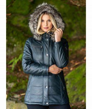 Sheri Womens Padded Hooded Coat