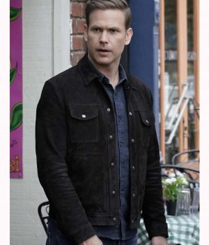 Legacies Alaric Saltzman Suede Leather Jacket