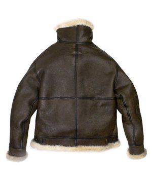 Andrew Mens Genuine Leather B-3 Bomber Jacket