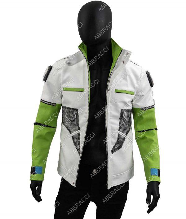 Apex Legends Season 03 Green and White Crypto Jacket